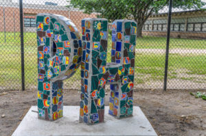 PH - Price Harris Elementary School - 706 Armour - [Fifth Grade] class of '95 with Ted Krone - Teddy Gingerich and Debra Ringler, tiles, [Fifth Grade] class of '98 with Terry Corbett , 1995, 1998 - photo from 2009