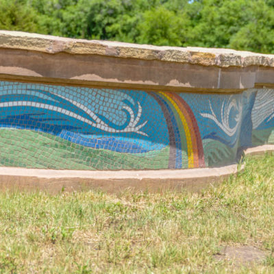 Legacy of Kansas - segment of muraled wall at Grove Park photo from 2009