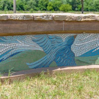 Legacy of Kansas - segment of mural wall at Grove Park photo from 2009