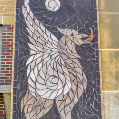 Tile mosaic Griffin - Northeast Magnet High School - 18457 N. Chautauqua photo from 2009