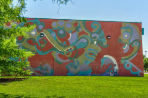 Evergreen Mural No.1 - Evergreen Park Recreation Center - 2700 N. Woodland - Ryan Drake and Cody Handlin with youth apprentices 2009